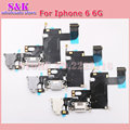 10 pçs/lote para iphone 6 carregamento charger porto doca conector flex cable fita com micro usb fones de ouvido jack de áudio anttenna