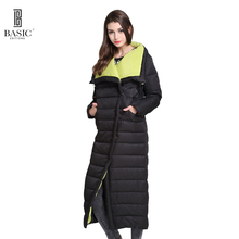 Basic Vogue Women Winter Extra Long Single Breasted Casual Puff Down Parka Jacket – Y16010