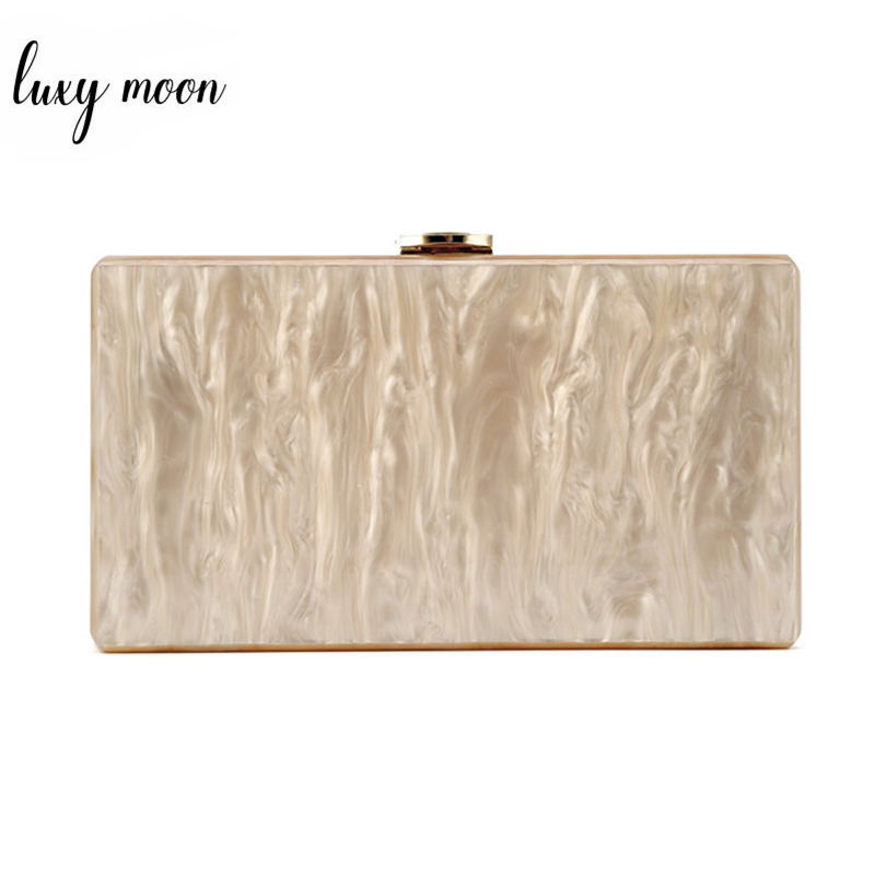 Acrylic Bag Women Evening Clutch Bag Champagne Acrylic Day Clutches Party Purse Female Chain Shoulder Messenger Bag Bolso ZD1289
