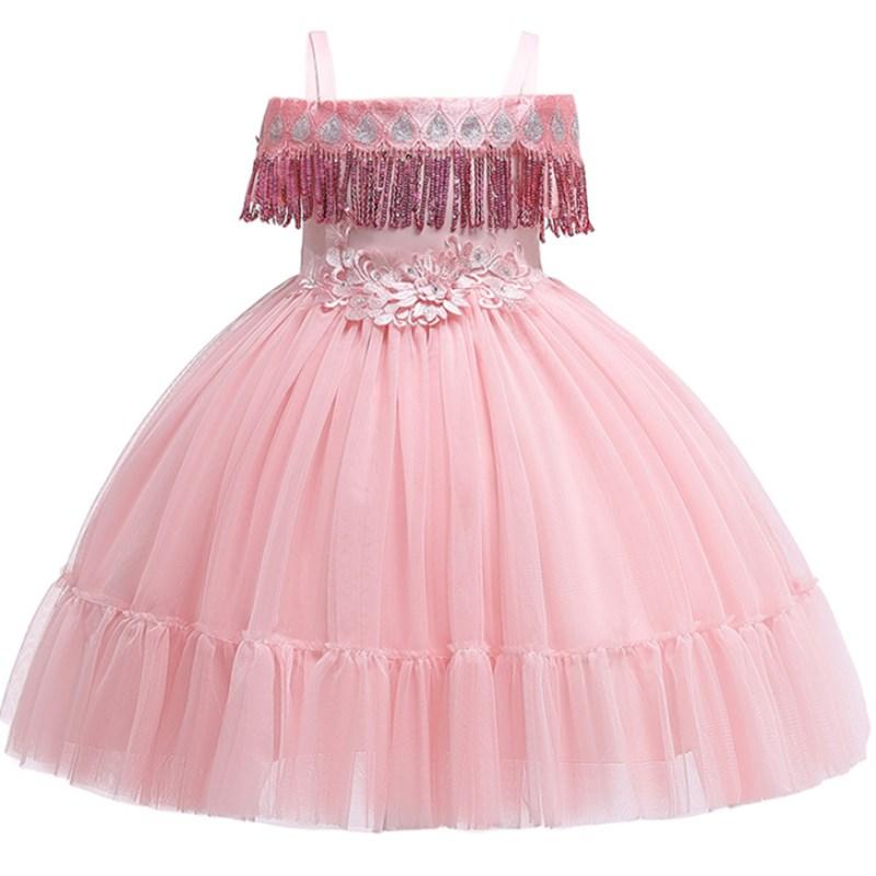 4f28a53a5 Vestido de niña Princesa para fiesta de cumpleaños de boda elegante flor  tutú niña niños vestidos de graduación para niñas 2-10 años
