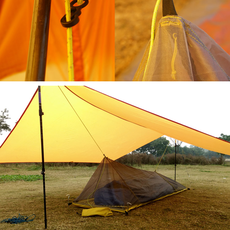 260G Ultralight Outdoor Camping Tent Summer 1 Single Person Mesh Tent Body Inner Tent Vents mosquito net for fishing tourist outdoor camping tent 3 4 beach tent camping tent single summer mosquito children play tent