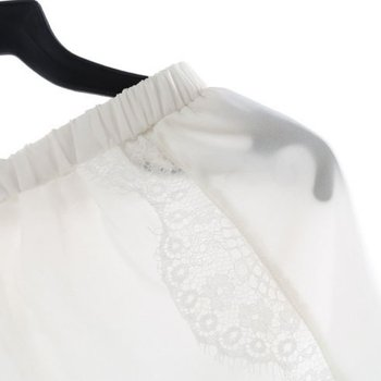 1PCS Sexy Shorts Tracksuit Hollow Satin Lace Women Shorts Casual Summer High Waist Short Feminino Shorts Solid Black White Color 10