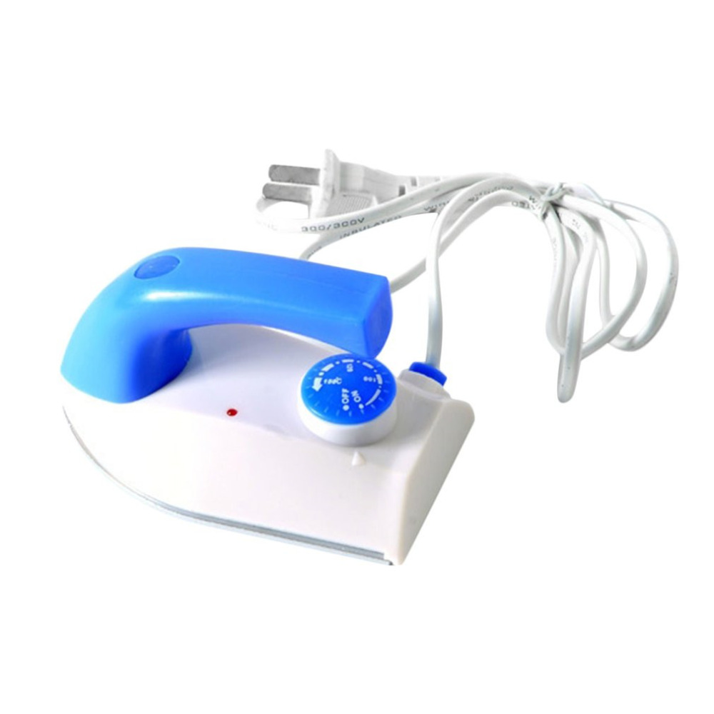 Mini Portable Foldable Electric Steam Iron For Clothes Teflon Baseplate Handheld Flatiron For Home Travelling Strong Steam Irons clothes iron