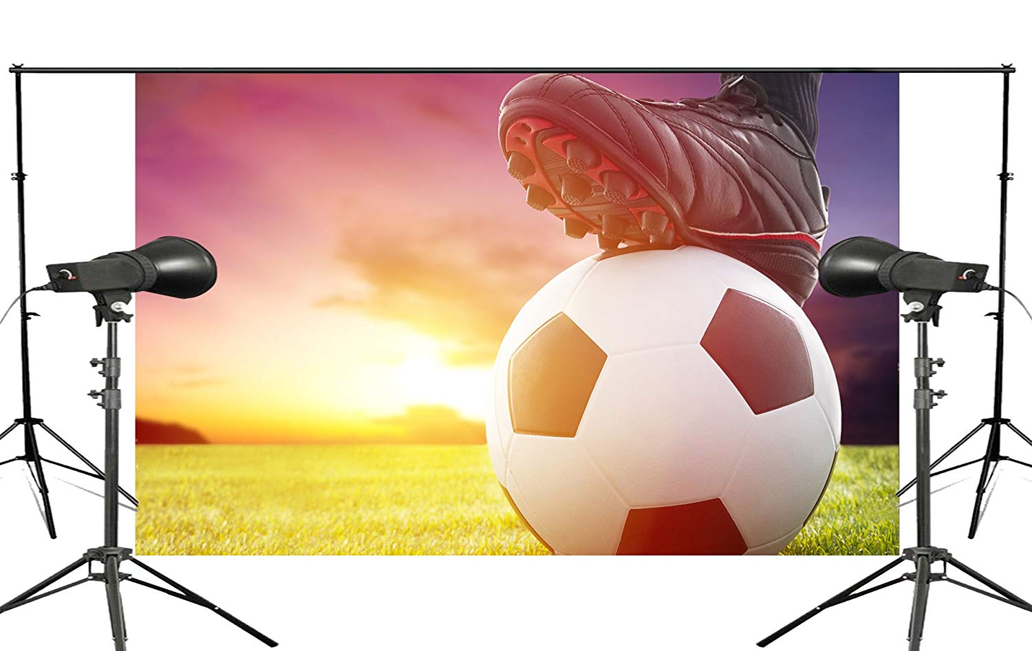 Sunny Lawn Background Football Player Ready Scene Studio Photography Background Football Hobby Sports Wallpaper 150x220cm in Photo Studio Accessories from Consumer Electronics