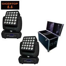 2in1 Road Case Pack 5x5 Led Moving Head Matrix Light 25 Head Individual Control Led Lamp DMX 512 ; Auto run,Master/Slave,sound(China)