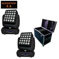 2in1 Road Case Pack 5x5 Led Moving Head Matrix Light 25 Head Individual Control Led Lamp DMX 512 ; Auto run,Master/Slave,sound
