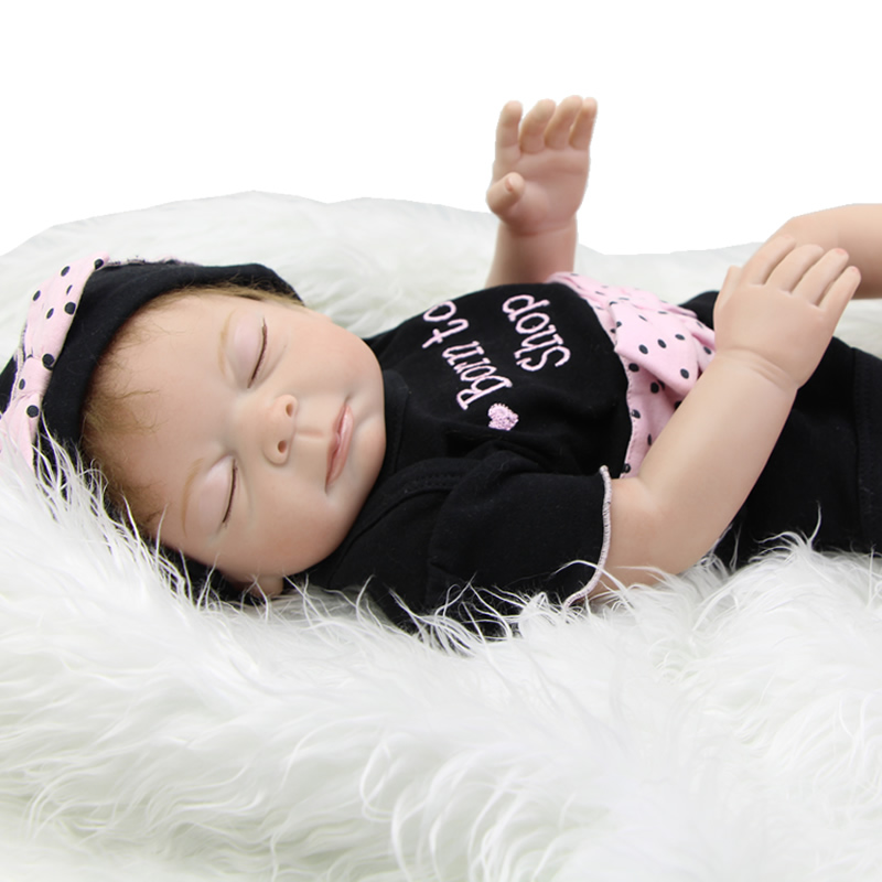 Real Touch Silicone Vinyl Baby Girl Reborn Doll 20 Inch 50 Cm Lifelike Waterproof Babies Princess Toy Kids Birthday Xmas Gift lifelike american 18 inches girl doll prices toy for children vinyl princess doll toys girl newest design