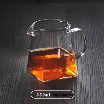BDT żaroodporne szkło bezbarwne dzbanek do herbaty kwadratowy kreatywny chiński zestaw do herbaty akcesoria Chahai dzbanek na mleko dzbanek do kawy dzbanek na wodę tanie i dobre opinie CN (pochodzenie)