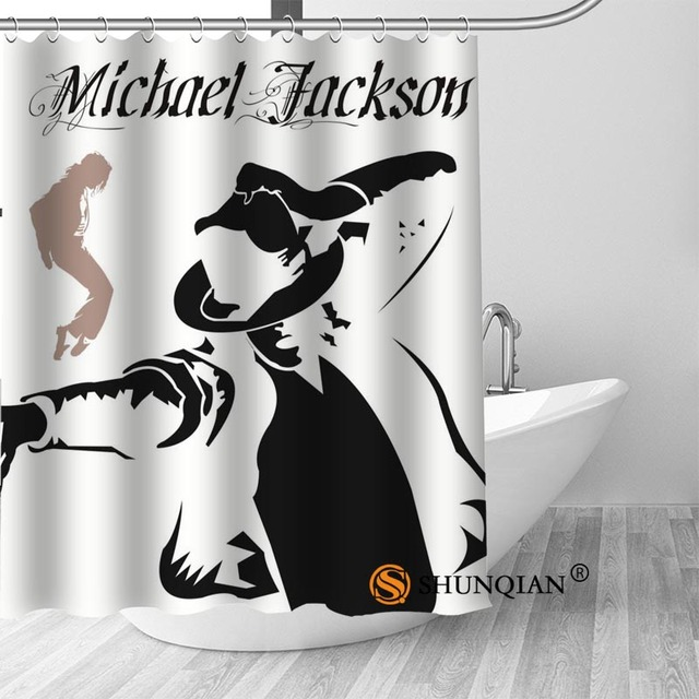 19 Michael jackson shower curtain washable thickened 5c64f7a44eda9