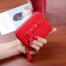 2018 hot brand women wallet casual short purse zipper wallet female small clutch bag with bowknot ladies purses