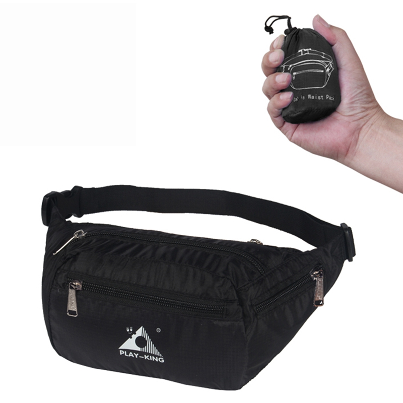 1pcs Outdoor Sports Running Waist Bag Pockets Waterproof Foldable Mobile Phone Pouch Adjustable Belts Running Bags