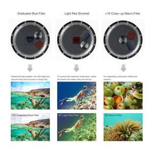 Image 4 - SOONSUN تصفية للتحويل قبة ميناء مقاوم للماء حافظة الغوص غطاء للعدسات ث/تعويم قبضة ل GoPro بطل 5 6 7 الأسود الذهاب برو 7 ملحق