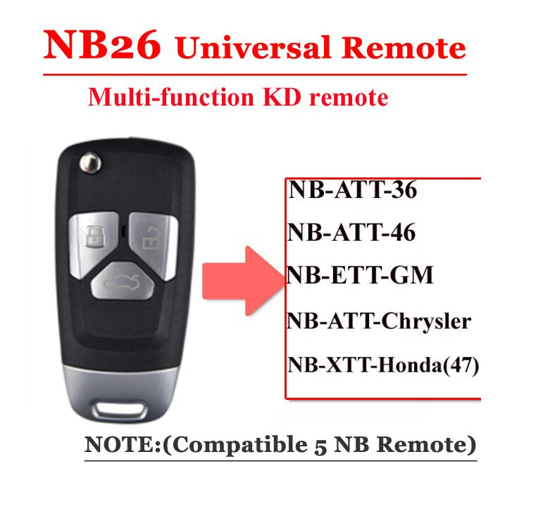 NB26 Universal Multi-functional KD Remote Key NB Series for KD900 URG200 MINI Key Programmer NB26-3