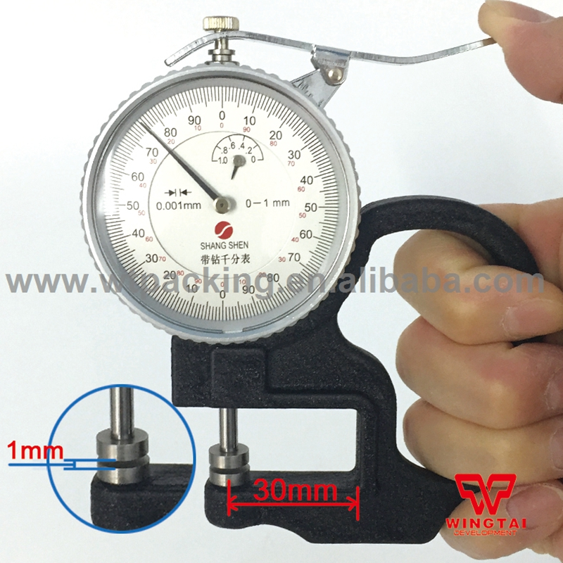 Good Quality Thickness Gauge Meter 0-1mm Measure Range Plastic film,paper, fabric Thickness Meter exploit high precision 0 01mm profession digital lcd display thickness gauge meter paper leather fabric thickness tester