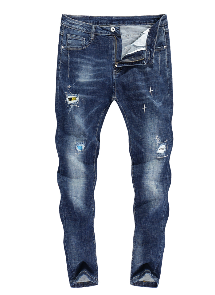 0f820357f72b85 KSTUN Skinny Jeans Men Ankle Length Pants 2019 Spring Summer Thin Stretch  Ripped Hiphop Mens Jeans