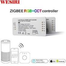 Led 컨트롤러 rgb + cct rgbw wwcw led 스트립 컨트롤러 dc12/24 v 선형 조명 조광기 app led 컨트롤러