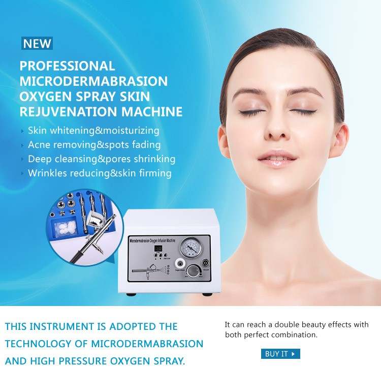portable diamond dermabrasion skin lifting water oxygen jet peeling facial care device
