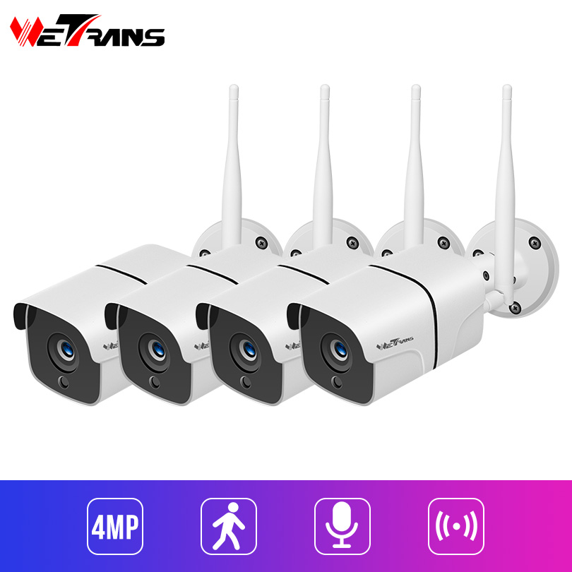 Wetrans Video Surveillance Home Camera Security System 4MP Audio 4CH Wireless Security Camera Outdoor Night Vision Alarm CamWetrans Video Surveillance Home Camera Security System 4MP Audio 4CH Wireless Security Camera Outdoor Night Vision Alarm Cam