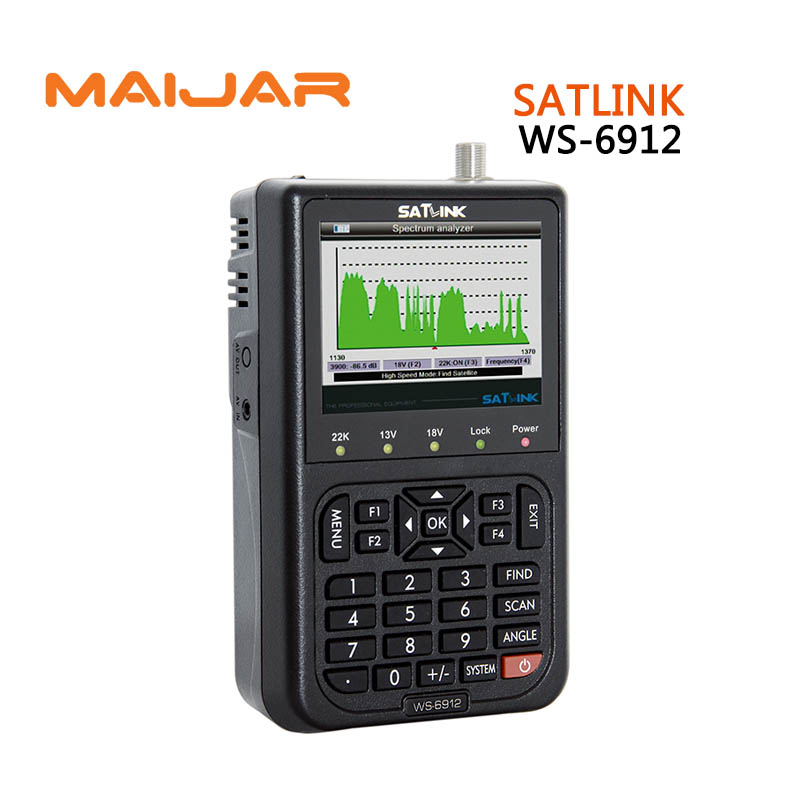 original Digital satellite finder meter ws6912 terrestrial signal satlink ws-6912 3.5 Inch HD TFT LCD Screen