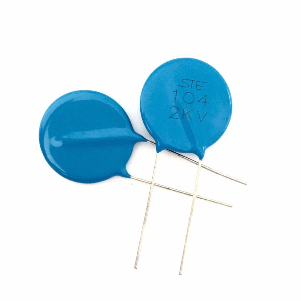 20pcs High Voltage Ceramic Disc Capacitors 100000PF 100NF 0.1uf 2000V 2KV 104