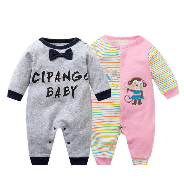 288aa86587d5 Baby Rompers Spring Baby Girl Clothes Cotton Baby Boy Clothing Set ...