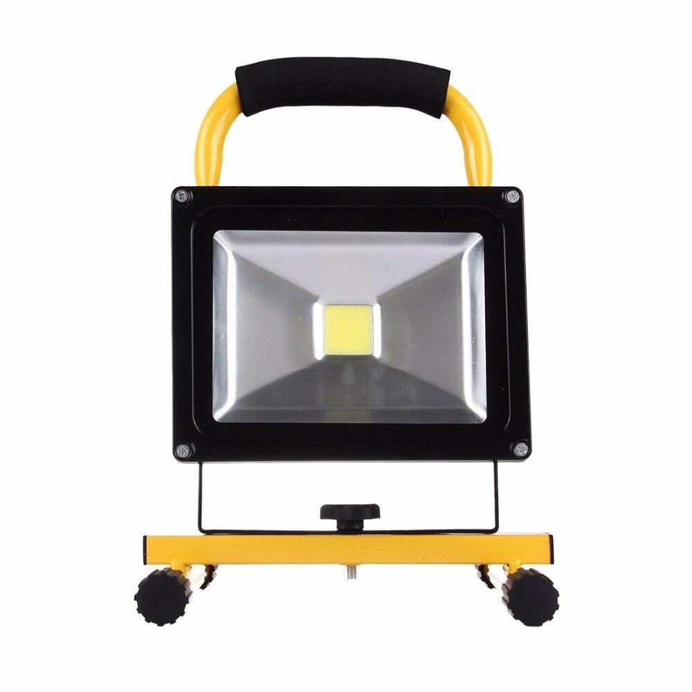 20w floodlight rechargeable handheld led flood light lamp waterproof portable outdoor garden. Black Bedroom Furniture Sets. Home Design Ideas
