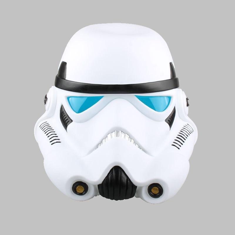 SAINTGI 1pcs/set Star Wars COS Mask Helmet Black Series Darth Vader Ant-Man Stormtrooper Halloween 22cm Action Figure Model 22cm star wars darth vador mask 1 1 cosplay toy adults 2016 new real man wearing darth vader storm trooper helmet toys for kids
