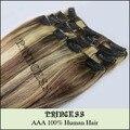 """20 """" - 26 """" женщины в реми человеческий волос прямой клип в расширениях 8 шт. 105 g смешанный блонд # 6 / 613"""