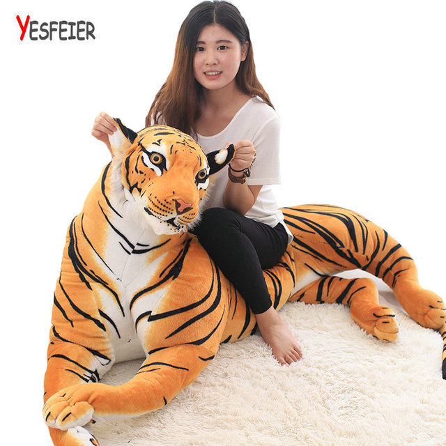 d5488d3574a98f 30-110 cm Leuke gele tijger knuffels Tiny Tots Kamer Decor dieren gevulde  doek doll