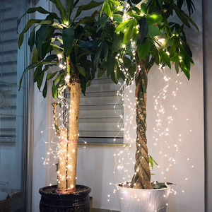 Image 4 - BEIAIDI 200 LED Solar Powered Vine Copper LED String Fairy Light Solar Watering Can Light Firefly Plants Tree Branch Fairy Light