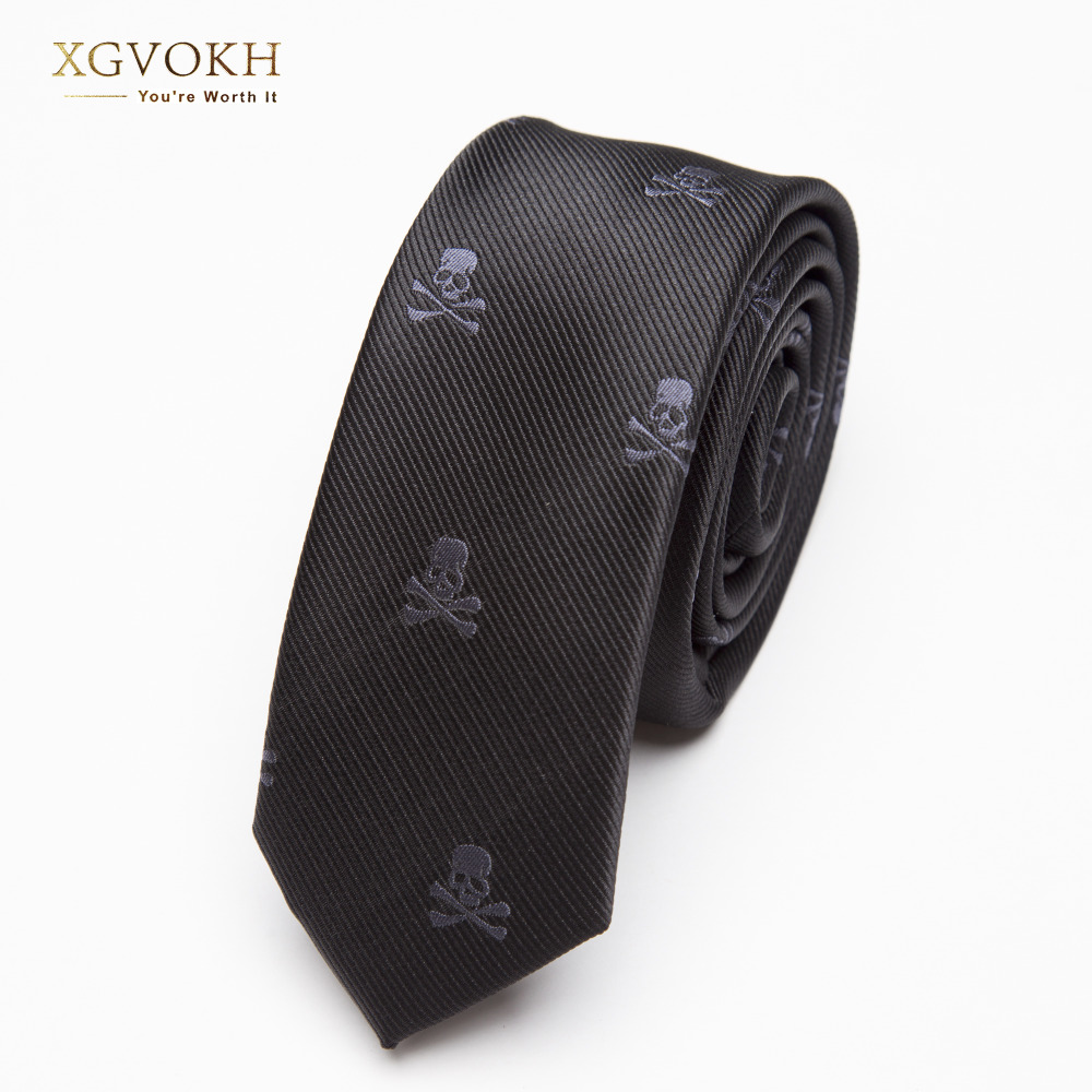 Men TIE Black Skull