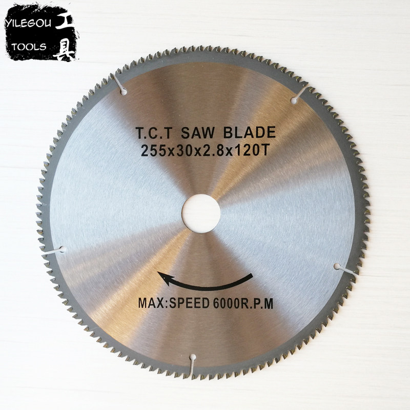10 255mm TCT Circular Saw Blades For Aluminum 255*2.8*30mm*120 Teeth Carbide Saw Blades Cutting Aluminum Bore 30.0mm 12 72 teeth 300mm carbide tipped saw blade with silencer holes for cutting melamine faced chipboard free shipping g teeth