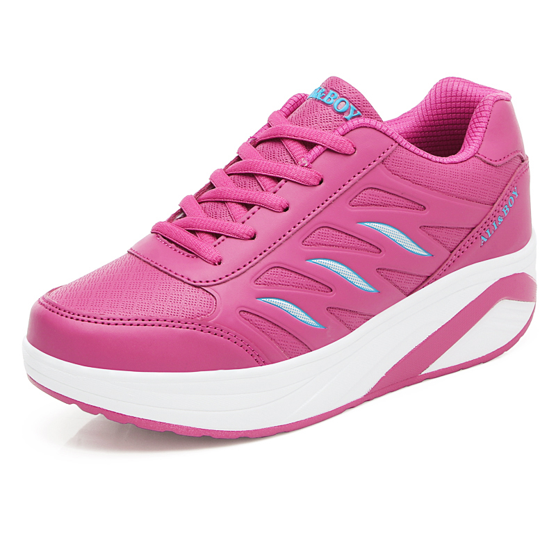 Бег обувь Женские кроссовки обувь, плотно сидящая на ноге женская обувь качалки кроссовки Полуботинки на толстой рифленой подошве wiggler ...