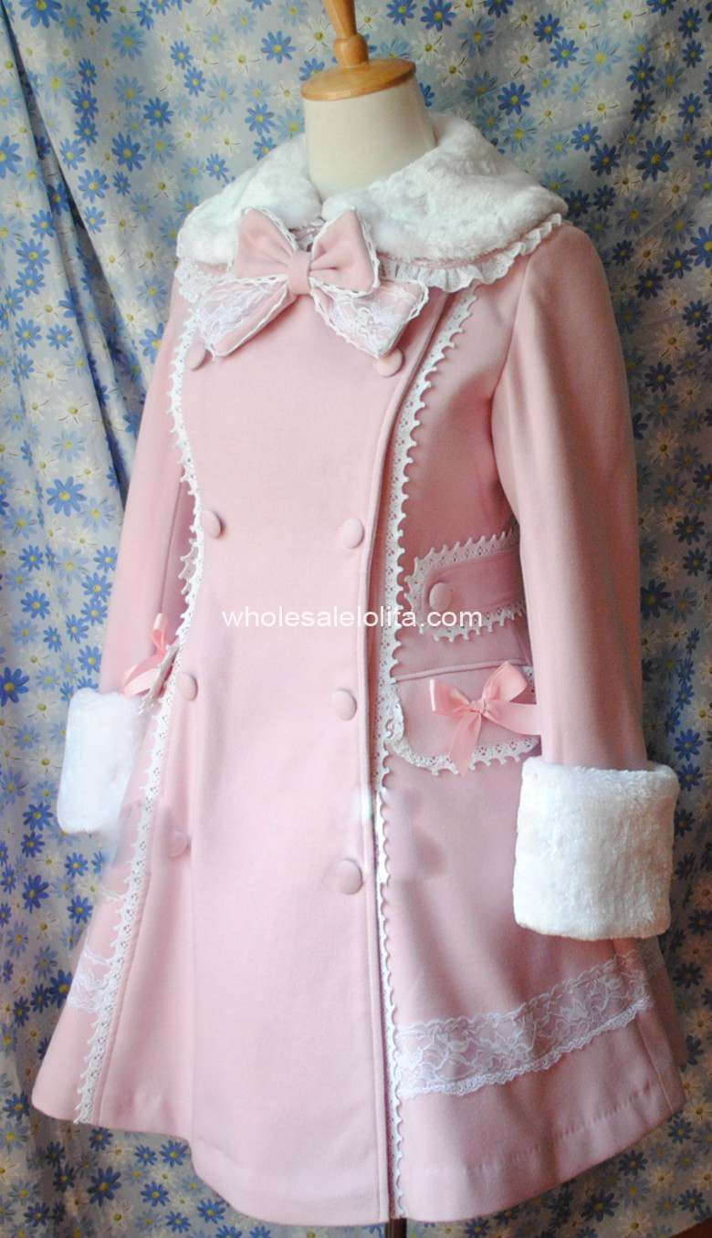 Magnifique D'hiver Hiver Rose Manteaux Laine Manteau Chaude Marque Personnalisable Long Filles ZRq7CdwZE