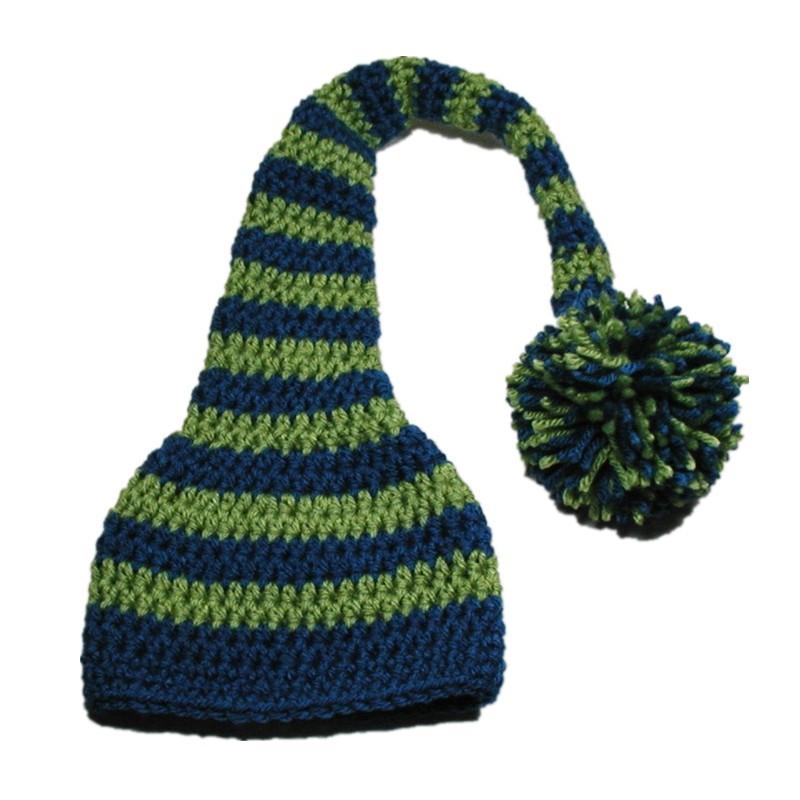 723f0d47bd7 Handmade Knit Crochet Baby Boy Girl Long Tail Pom Pom Beanie Hat ...