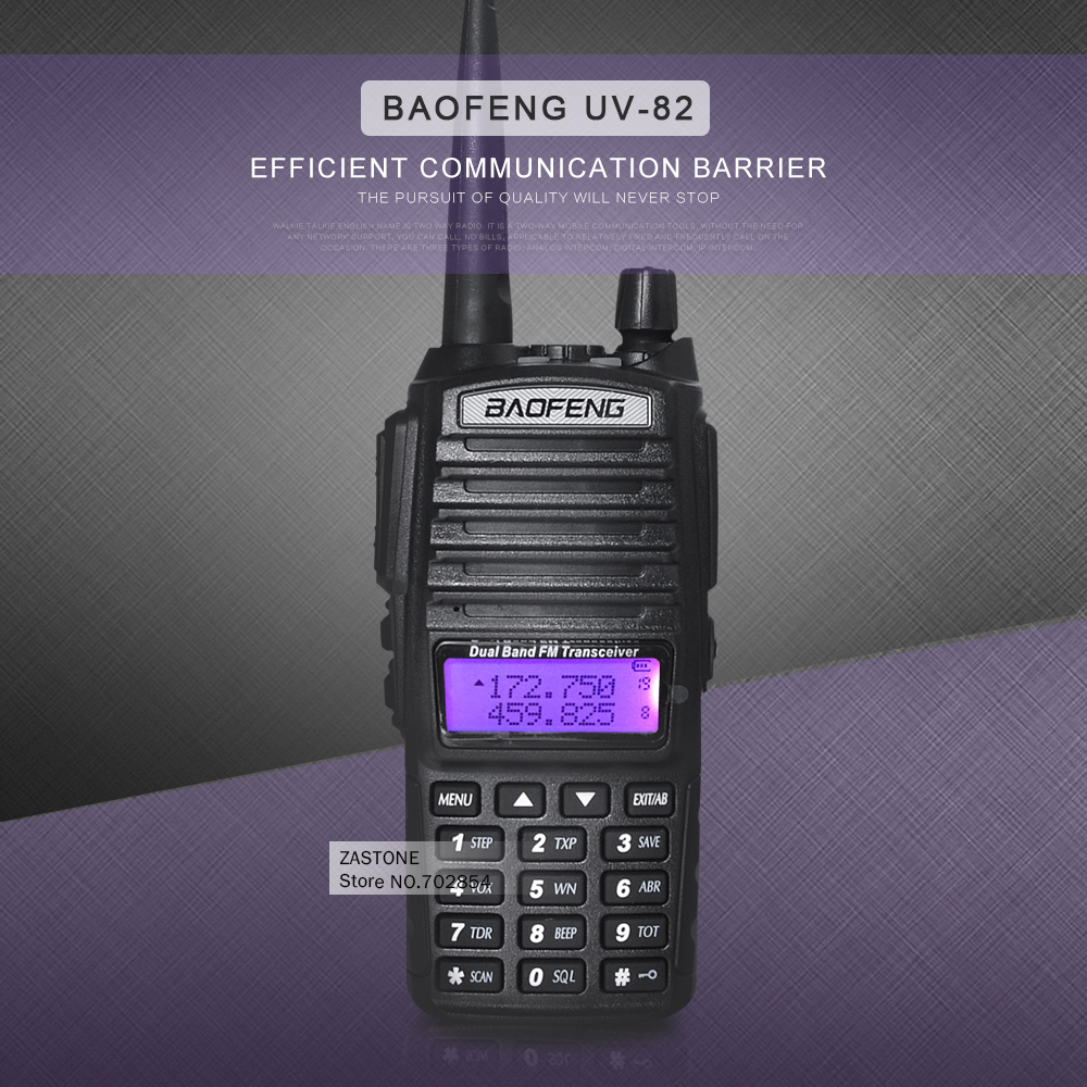 BaoFeng UV 82 Dual Band 136 174 400 520 MHz Walkie Talkie FM Ham font b