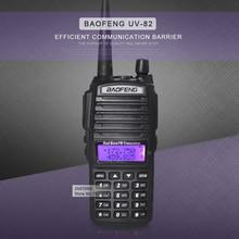 BaoFeng UV-82 de Doble Banda 136-174/400-520 MHz FM Jamón de Dos vías Transceptor de Radio Walkie Talkie batería, antena y Cargador