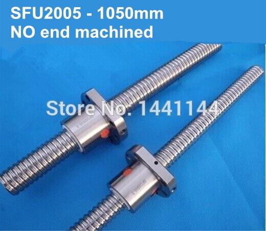 Rolled Ball screws shaft 2005 - 1050mm +1pcs SFU2005 single flange ballnutRolled Ball screws shaft 2005 - 1050mm +1pcs SFU2005 single flange ballnut