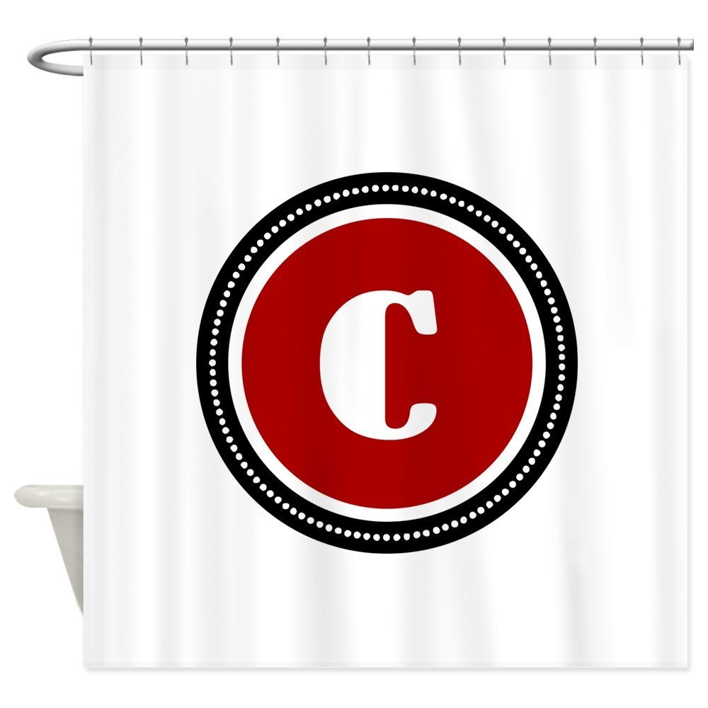 Red Shower Curtain Decorative Fabric Shower Curtain