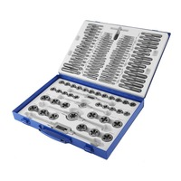 (Ship From DE)110PCS Screw Thread Drill Kit Professional Alloy Steel Taps Thread Cutter Durable Metric Tap Die Set Hand Tool Set