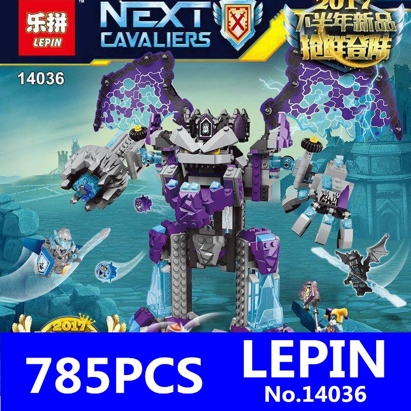 LEPIN 14036 785Pcs Combination Knights Aaron Fox's Aero-Striker V2 Building Blocks Bricks Kits Educational Children Toys Model official doit rc metal tank chassis wall caterpillar tractor robot wall e crawler wall brrow land car diy rc toy remote control
