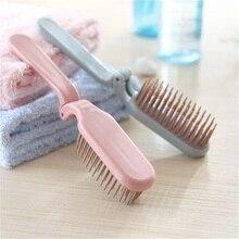 1 pçs venda quente dobrável portátil de viagem portátil plástico macio dente pentes pente cabeleireiro cabelo longo anti estática massagem