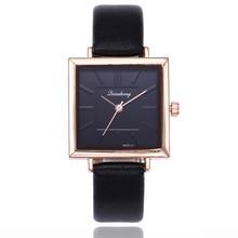 2019 New Rose Gold Watch Women Luxury Brand Elegant Square Dial Wrist Watches Woman Fashion Quartz Watch Ladies Clock kol saati недорго, оригинальная цена