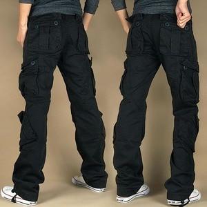 Image 2 - Darmowa wysyłka 2020 New Arrival moda Hip Hop luźne spodnie dżinsy Baggy Cargo spodnie dla kobiet