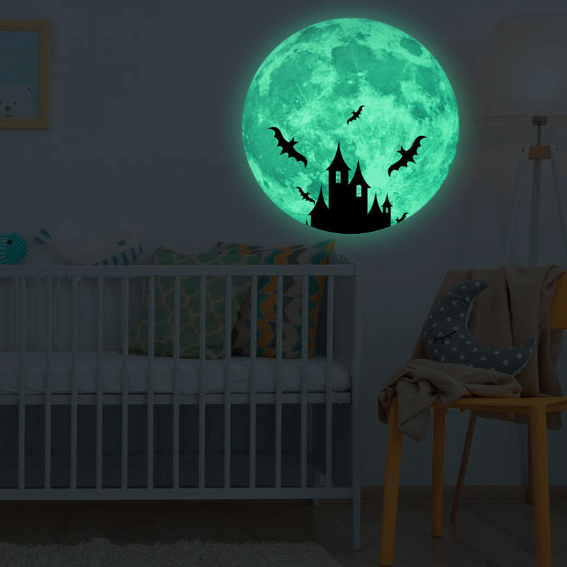 Halloween 3d Wall Sticker The Moon Glow In The Dark Wall Decal