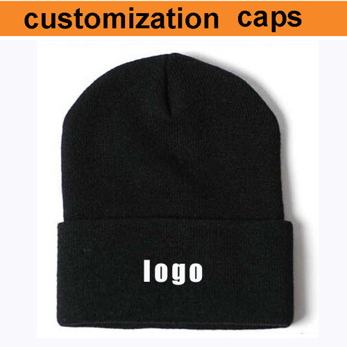 factory wholesale free shipping cost custom beanies hat logo cusotm hats winter make your logo