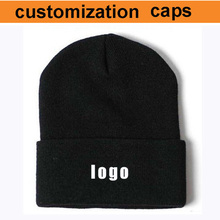 Atacado fábrica! custo de envio gratuito! chapéu de gorro personalizado, logotipo cusotm chapéus inverno fazer o seu logotipo