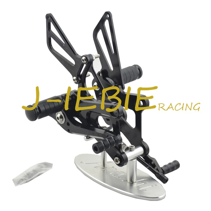 CNC Racing Rearset Adjustable Rear Sets Foot pegs Fit For Honda CBR250R CBR250 R 2011 2012 2013 2014 2015 BLACK cnc racing rearset adjustable rear sets foot pegs fit for yamaha yzf r1 2007 2008 gold
