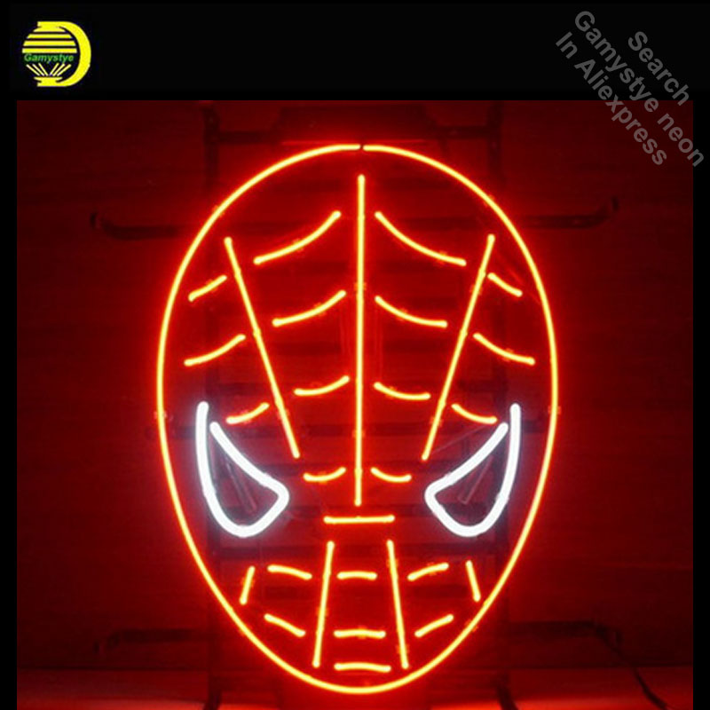 NEON SIGN For Red spiderman Signboard REAL GLASS BEER BAR PUB display christmas Light Signs 17*14 light Sailing anuncio luminos custom signage neon signs pizza beer real glass tube bar pub signboard display decorate store shop light sign 17 14