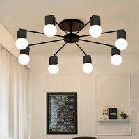 Современный минималистский металла потолочный светильник Live спальня ресторан лампы в стиле АР деко люстра светильники